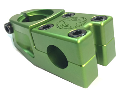 Daily Grind BMX Barkeep BMX stem in green at Albe's BMX Bike Shop