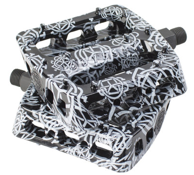 Odyssey BMX Twisted Pro PC pedals in Black Monogram at Albe's BMX Shop Online