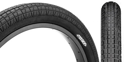 Mission Fleet BMX Tire in Black at Albe's BMX Bike Shop