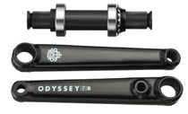 Odyssey BMX Calibur 3 piece crank in black at Albe's BMX Bike Shop
