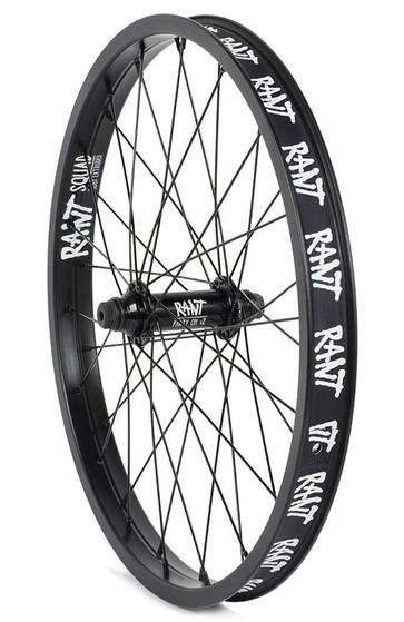Rant Party On V2 Front Wheel in Black at Albe's BMX Online