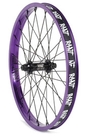 Rant Party On V2 Front Wheel in Purple at Albe's BMX Online
