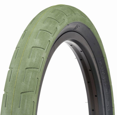 BSD Donnastreet BMX Tire in Green at Albe's BMX Bike Shop