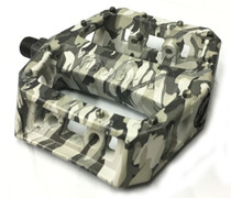Fiction Mythos BMX pedals in Urban Camo at Albe's BMX Bike Shop