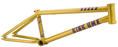 Kink Titan 2 BMX Frame in Gold at Albe's BMX Bike Shop