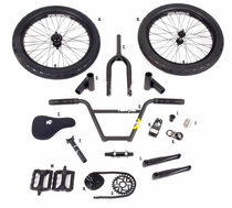 Stolen x Fiction BMX Parts kit in black at Albe's BMX Bike Shop