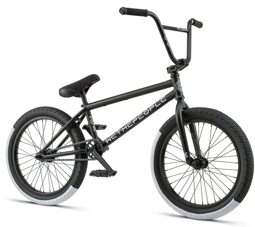 d985ac1b35b We The People Reason 2018 BMX Bike in Black at Albe's BMX Bike Shop