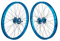SE Racing Retro 20 inch BMX Wheel Set in Blue at Albe's BMX Bike Shop Online