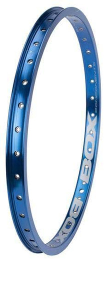 Box Focus rear rim in blue at Albe's BMX