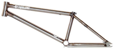 Volume War Horse BMX Frame in Raw at Albe's BMX Bike Shop