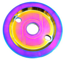 Primo Solid Guard Sprocket in Oil Slick at Albe's BMX Bike Shop