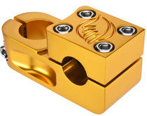 SE Narler Retro BMX Stem in Gold at Albe's BMX Bike Shop