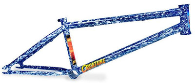 Fiction Creature frame in Angry Ocean colorway at Albe's BMX Bike Shop