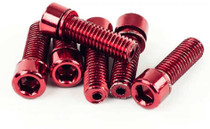 Mission BMX Hollow Stem Bolts in Red at Albe's BMX Bike Shop Online