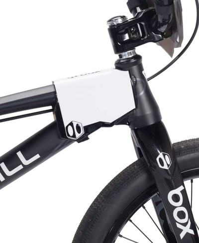 Box Phase 2 Side Number Plate in black at Albe's BMX Bike Shop Online