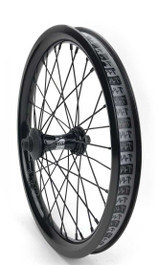 Cult Crew Aero 18 inch front wheel in black at Albe's BMX Bike Shop Online