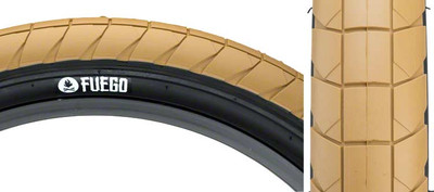 Fly Bikes Fuego Tire In tan at Albe's BMX Bike Shop Online
