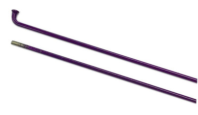 Mission Stainless Steel spoke in Purple color at Albe's BMX Bike Shop