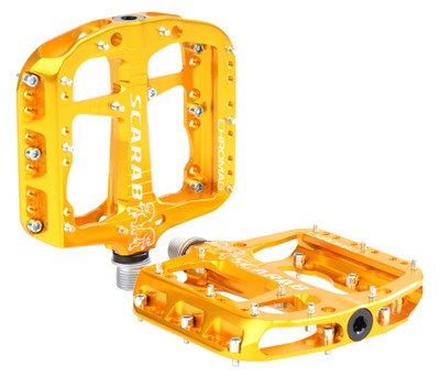 Chromag Scarab Alloy Pedal in Gold at Albe's BMX Bike Shop