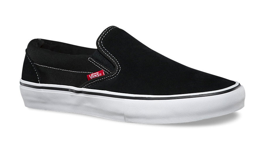 Vans Slip On Pro Shoes in Black and White at Albe s BMX Bike Shop Online b679c04db