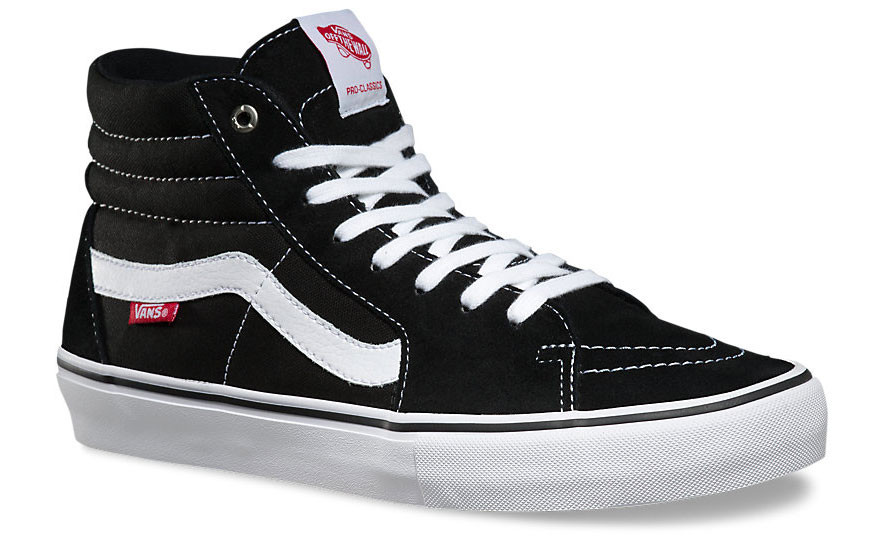 d5a79a42dd12 Vans SK8 Hi Pro Shoes in Black and White at Albe s BMX Bike Shop Online