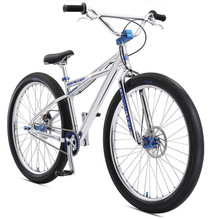 "SE Bikes 2019 Monster Quad 29"" BMX Bike in Polished Silver at Albe's BMX Bike Shop Online"