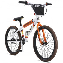 "SE Bikes SoCal Flyer 24"" 2019 Bike in White at Albe's BMX Bike Shop Online"