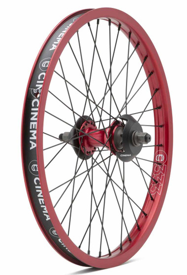 Cinema ZX V2 Rear Wheel In red At albe's BMX Bike Shop Online