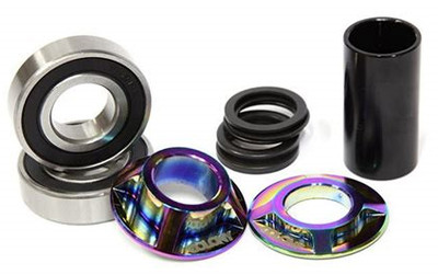Colony Mid Bottom Bracket kit in Rainbow color at Albe's BMX