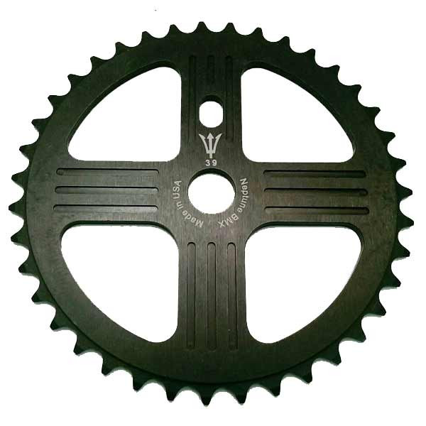 NEPTUNE BMX 44 tooth HELM Sprocket BLUE Gear for 19mm spindles Made in USA!