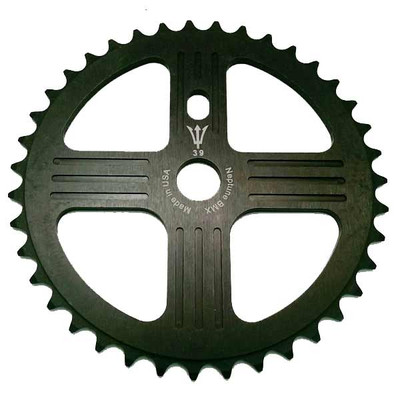 Neptune Helm Sprocket in Black at Albe's BMX Bike Shop