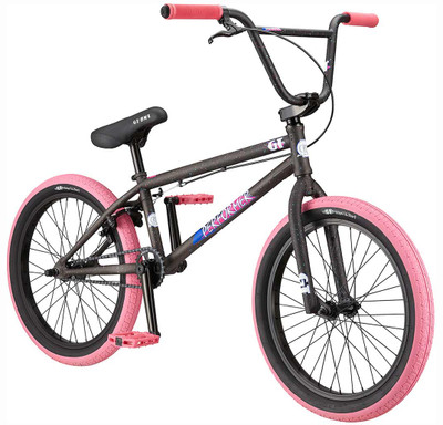 GT Bikes Performer Bike 2019 in black and pink at Albe's BMX