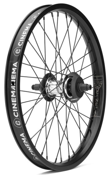 Cinema Reynolds Freecoaster Wheel in black and polished at Albe's BMX Bike Shop