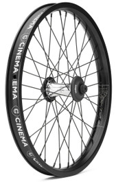 Cinema Reynolds Front Wheel in black and polished at Albe's BMX Bike Shop