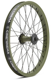 Cinema DAK C38 Front Wheel in Army Green at Albe's BMX