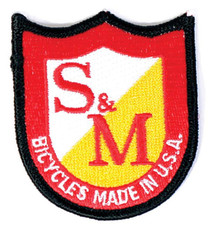 S&M Shield Patch at Albe's BMX Online