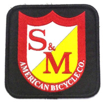 S&M Square Shield Patch at Albe's BMX Online