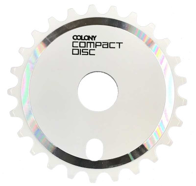 Colony CD Sprocket in White at Albe's BMX online