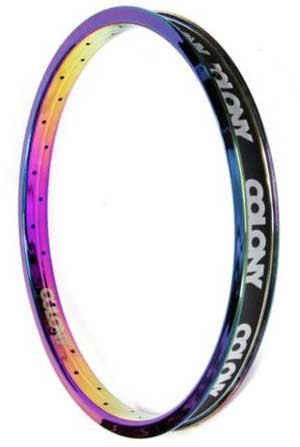 Colony Contour 20 inch Rim in Rainbow at Albe's BMX Online
