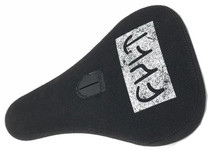 Cult Distressed Logo Pivotal Seat in black at Albe's BMX Online