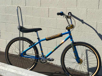 SE Bikes BN Flyer Banana Seat Bike in blue at Albe's BMX Online