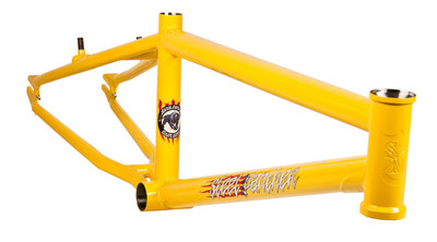 S&M Steel Panther Frame in yellow at Albe's BMX Online