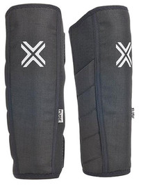 Fuse Alpha Shin Whip Pads in black at Albe's BMX
