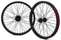"City Strong Cassette 20"" Wheelset in Black at Albe's BMX Online"