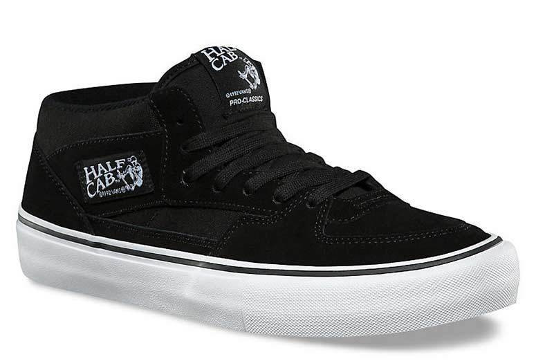 vans half cab black and white