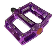 Tangent Alloy Platform Pedals in purple at Albe's BMX Online