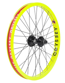 Odyssey Hazard Lite Antigram V2 Cassette Wheel in Flo Yellow at Albe's BMX Online
