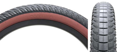 "Duo Stunner 20"" Tire with natural sidewall at Albe's BMX Online"