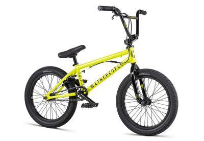 """We The People CRS FS 18"""" Bike 2020 in yellow color at Albe's BMX Online"""