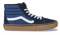Vans Sk8-Hi Pro Shoes (Rainy Day) Navy / Gum at Albe's BMX Online